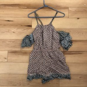 Anthropologie Romper w/arm sleeves - Elevenses